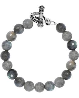 Labradorite Sterling Silver Beaded Toggle Bracelet