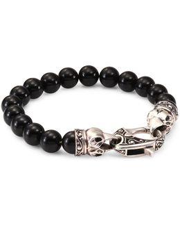 Raven Head Sterling Silver Bracelet