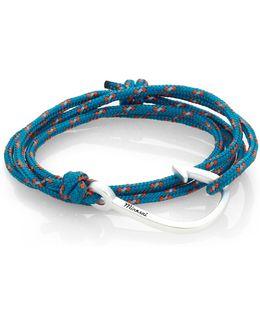 Hook Rope Wrap Bracelet/silvertone
