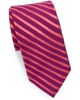 Narrow Stripe Silk Tie
