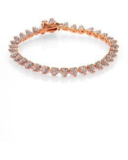Pave Crystal Mini Cone Bracelet/rose Goldtone
