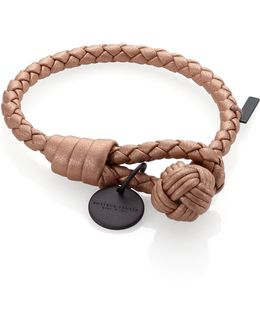 Intrecciato Leather Thin Wrap Bracelet