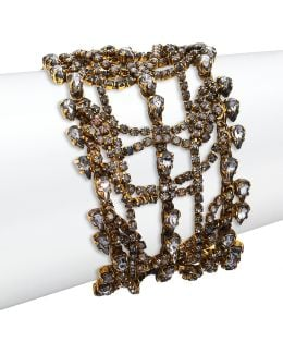 Bette Crystal Layered Multi-row Bracelet