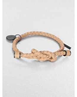 Intrecciato Knotted Leather Bracelet