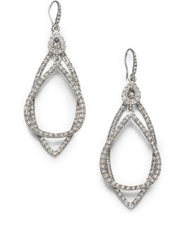 Pave Double Loop Earrings
