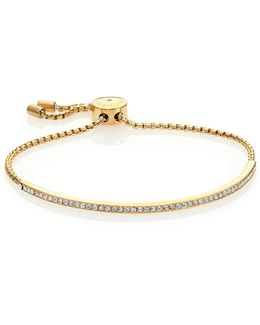 Brilliance Statement Pave Bar Bracelet/goldtone