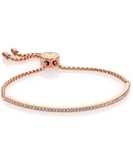 Brilliance Statement Pave Bar Bracelet/rose Goldtone