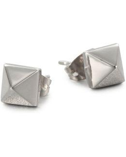 Pyramid Stud Earrings/silvertone