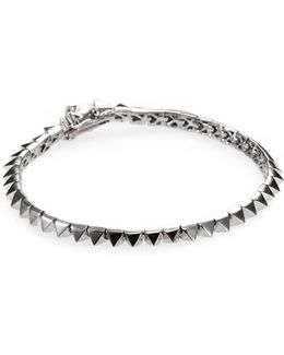 Pyramid Tennis Bracelet/silvertone