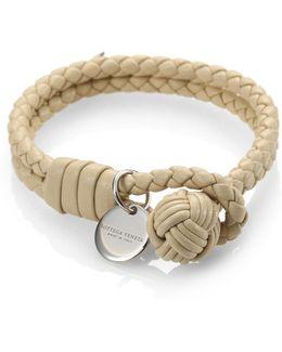 Intrecciato Leather Double-row Wrap Bracelet