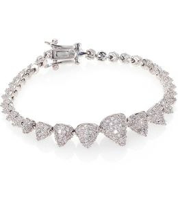 Pave Crystal Graduated Mini Cone Bracelet