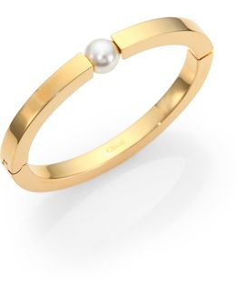 Darcey Faux Pearl Bangle Bracelet