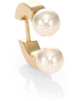 Darcey Faux Pearl Single Earring
