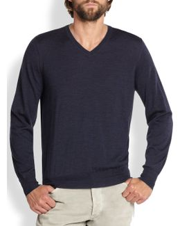 Wool/cashmere V-neck Sweater