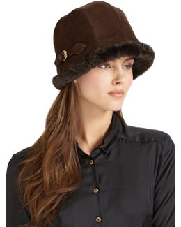 Vail Suede & Faux Shearling Hat
