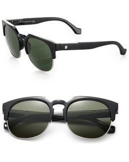 54mm Metal/acetate Round Sunglasses