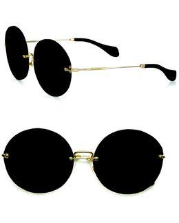 Retro Noir Round Acetate Sunglasses