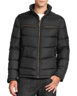 Packable Down Moto Jacket