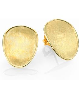 Lunaria 18k Yellow Gold Small Button Earrings