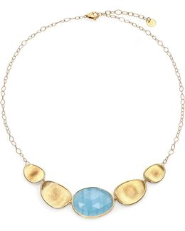 Lunaria Aquamarine & 18k Yellow Gold Necklace