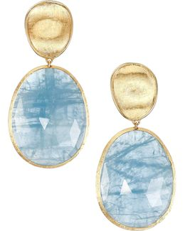 Lunaria Aquamarine & 18k Yellow Gold Large Drop Earrings