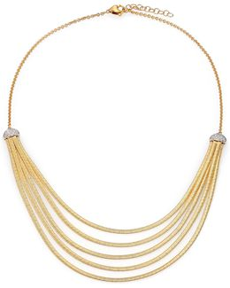 Cairo Diamond & 18k Yellow Gold Five-row Bib Necklace