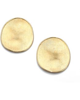 Lunaria 18k Yellow Gold Large Button Earrings