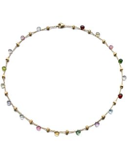 Paradise Semi-precious Multi-stone & 18k Yellow Gold Station Necklace