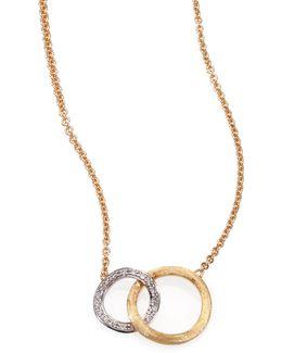 Jaipur Link Diamond, 18k White & Yellow Gold Pendant Necklace