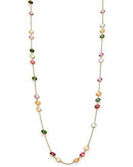 Mini Jaipur Semi-precious Multi-stone Long Station Necklace