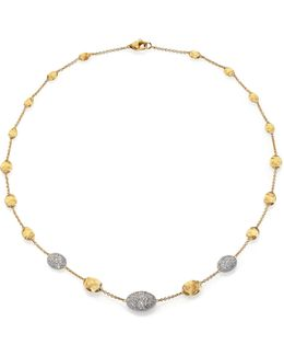 Siviglia Diamond, 18k White & Yellow Gold Station Necklace