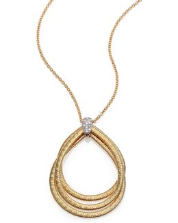 Cairo Diamond & 18k Yellow Gold Triple Teardrop Necklace