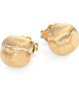 Africa 18k Yellow Gold Ball Stud Earrings
