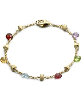 Paradise Semi-precious Multi-stone & 18k Yellow Gold Station Bracelet