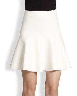 Ingrid Ponte Knit Fit-&-flare Skirt
