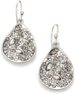 Miss Havisham Crystal Drop Earrings/silvertone