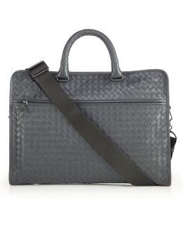 Leggeron Intrecciato Leather Briefcase