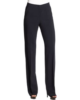 Wide-leg Featherweight Wool Pants