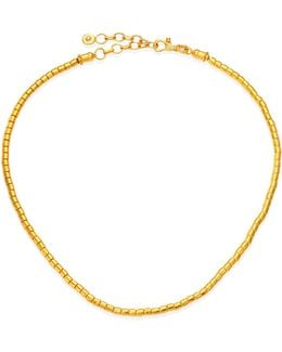 Vertigo 24k Gold Single Strand Necklace