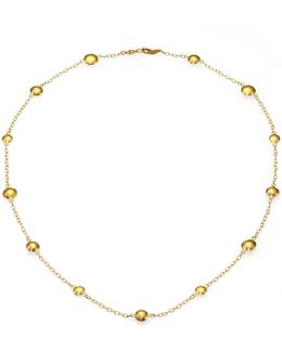 Lentil 24k Yellow Gold Mini Station Necklace