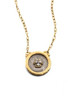 Imperial Diamond, 24k Yellow Gold & Sterling Silver Pendant Necklace