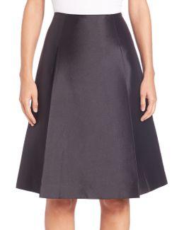 Silk & Wool A-line Skirt