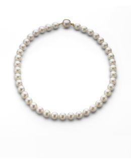 10mm White Pearl Necklace/18