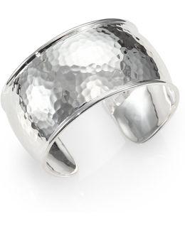 Glamazon Sterling Silver Flat Cuff Bracelet