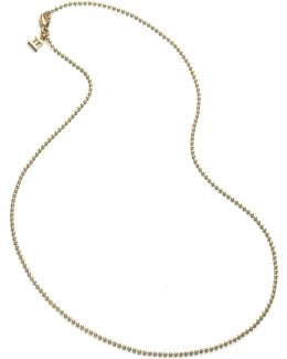 18k Yellow Gold Ball Necklace Chain/16