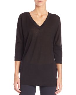 Batwing Silk & Cashmere Sweater