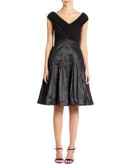 Taffeta-skirt Dress