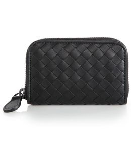 Intrecciato Leather Coin Case