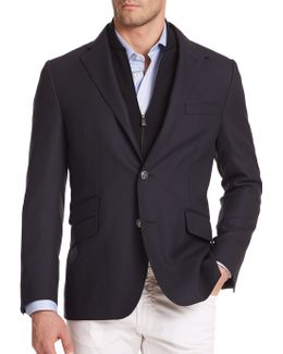 Solid Virgin Wool Sportcoat
