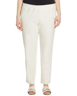 System Slim Stretch-crepe Ankle Pants